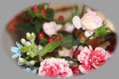 「花束と栗ご飯」_f0322282_17071037.jpg