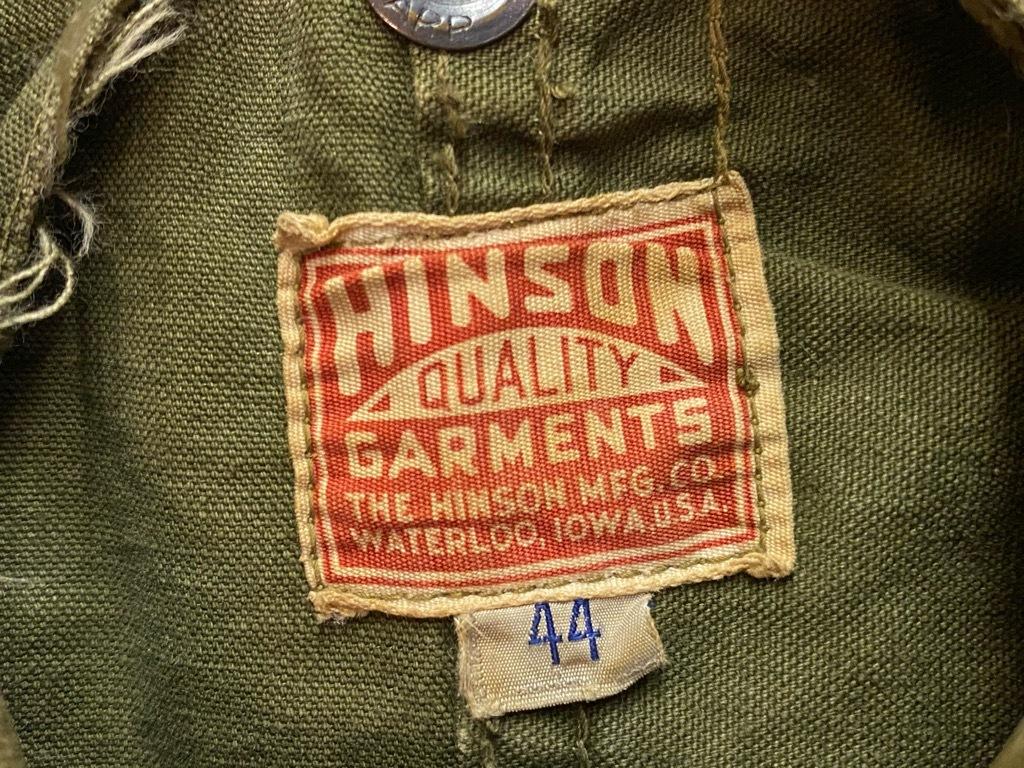 10月21日(水)マグネッツ大阪店Vintage入荷日!! #6 Hunting編!! HINSON,FieldMaster,ChinStrap,Vest, AN-J-3Type!!_c0078587_02102956.jpg
