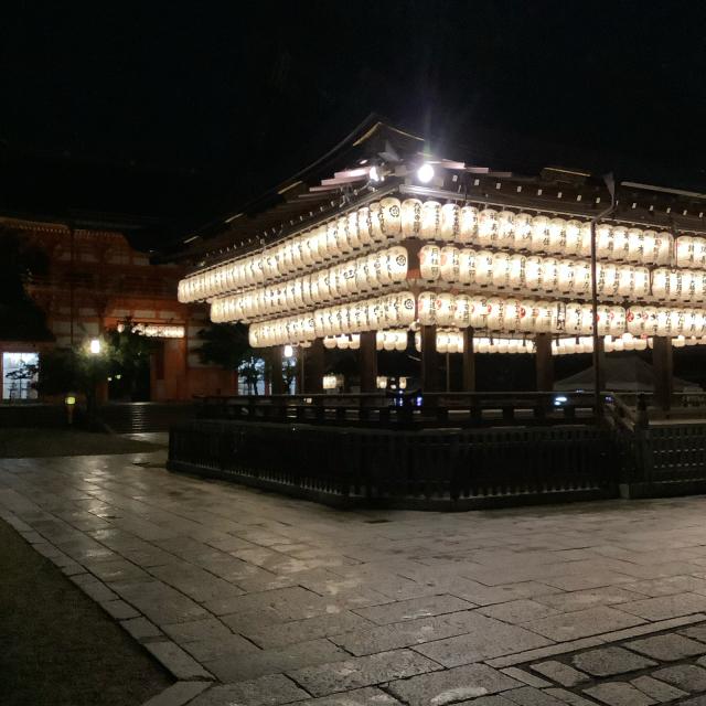 夜の八坂さんと壹銭洋食_a0334793_14091354.jpg