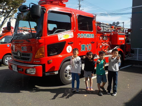 消防車が来たよ♪_f0342495_13260625.jpg