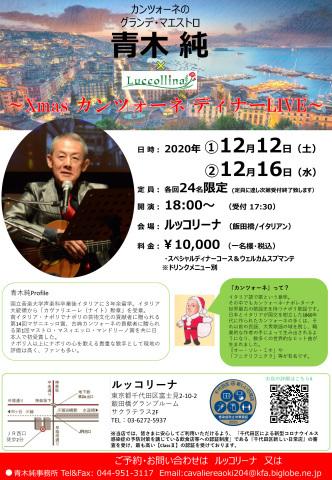 Xmas カンツォーネ ディナー Live のお知らせ_d0001599_11022614.jpg