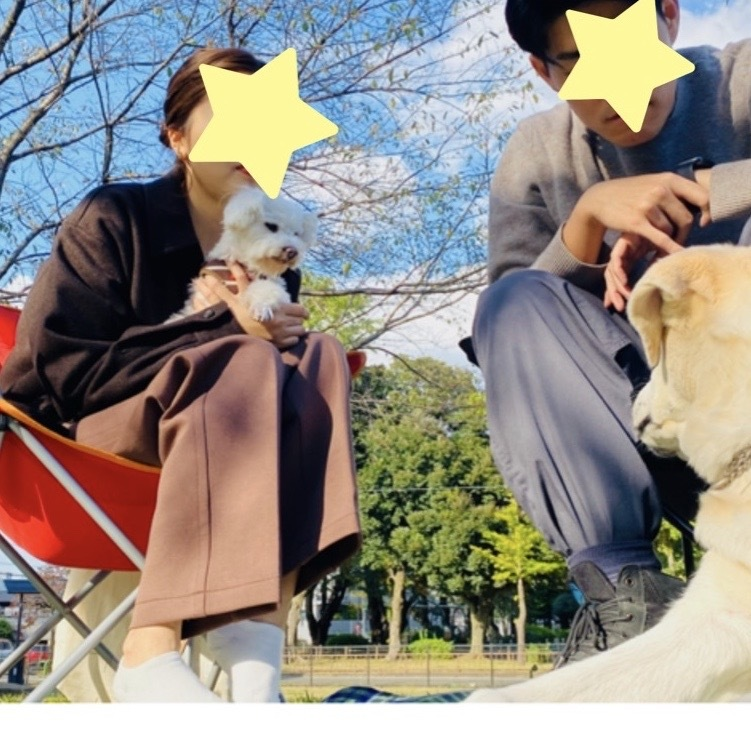 Picnic with dogs @JOHOKU park 表情が豊かに♪_a0165160_18434045.jpg