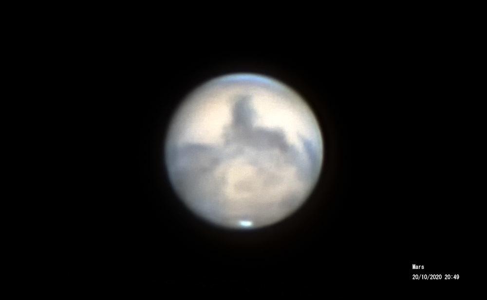 10月20日の火星(その1) - お手軽天体写真