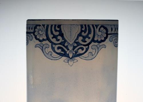 ルグラ 帆船デザイン オパリン花瓶 デルフト風_c0108595_23224727.jpeg