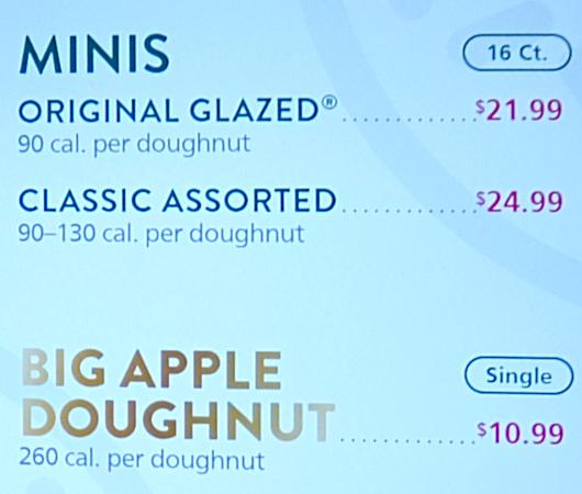 クリスピー・クリームの1つ1200円ほどするニューヨークならではの特別ドーナツ(Big Apple Doughnut)を試食_b0007805_20593989.jpg