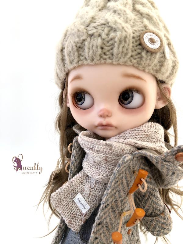 *lucalily * dolls clothes* Herringbone duffle coat set *_d0217189_19072178.jpeg