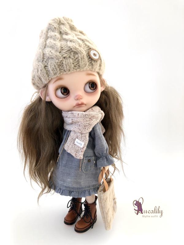 *lucalily * dolls clothes* Herringbone duffle coat set *_d0217189_19073937.jpeg