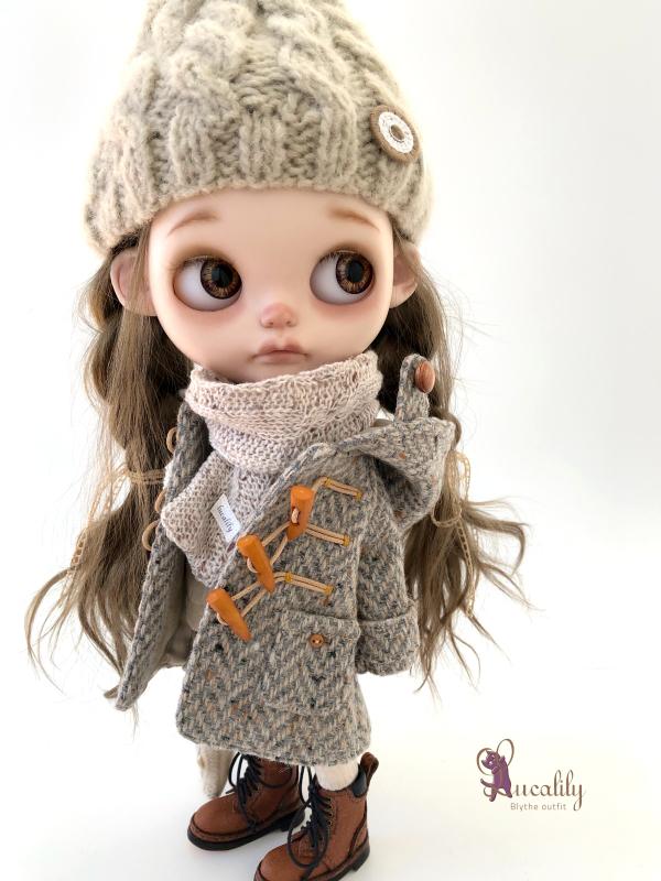 *lucalily * dolls clothes* Herringbone duffle coat set *_d0217189_19074347.jpeg