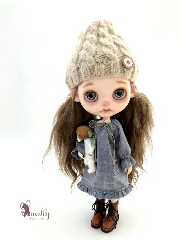 *lucalily * dolls clothes* Herringbone duffle coat set *_d0217189_19074972.jpeg