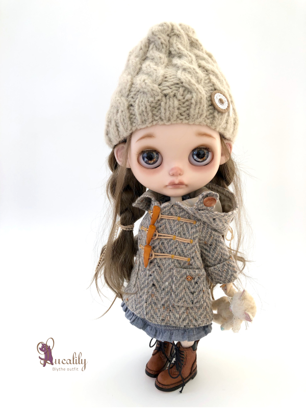 *lucalily * dolls clothes* Herringbone duffle coat set *_d0217189_19075483.jpeg