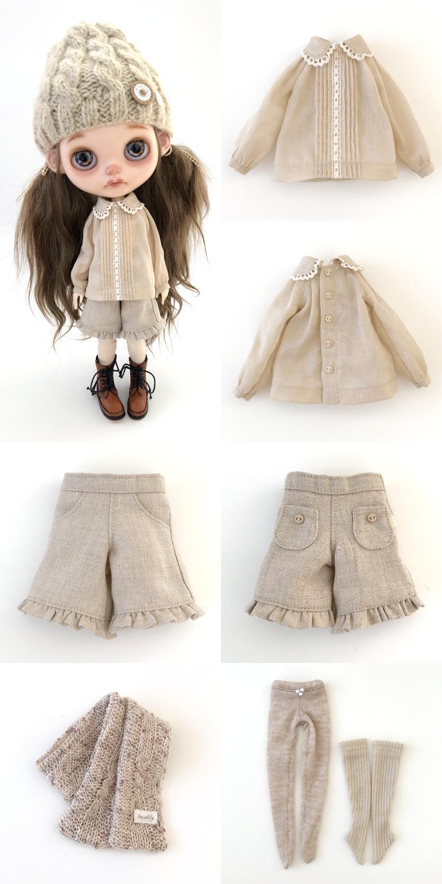*lucalily * dolls clothes* Herringbone duffle coat set *_d0217189_19075907.jpg