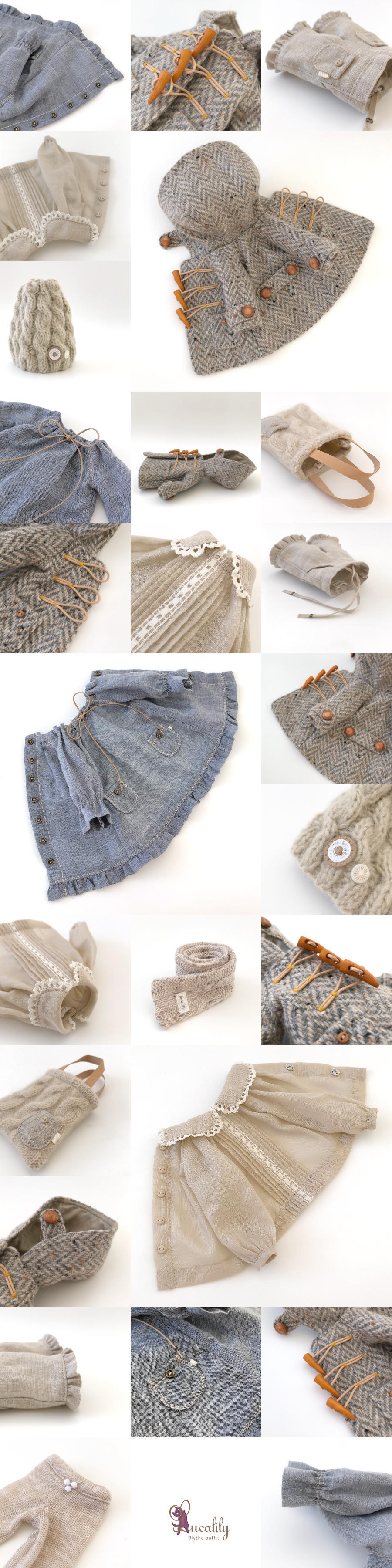 *lucalily * dolls clothes* Herringbone duffle coat set *_d0217189_19080279.jpg