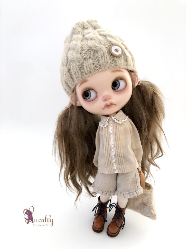 *lucalily * dolls clothes* Herringbone duffle coat set *_d0217189_19091250.jpeg