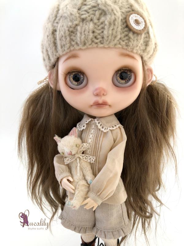 *lucalily * dolls clothes* Herringbone duffle coat set *_d0217189_19093341.jpeg