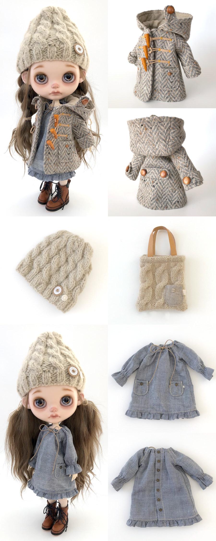 *lucalily * dolls clothes* Herringbone duffle coat set *_d0217189_19101810.jpg
