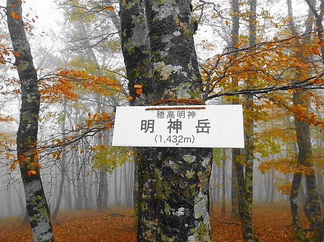 紅葉はおあずけ霧と暴風の明神岳  SOTA#JA/ME-002_f0073587_22130836.jpg