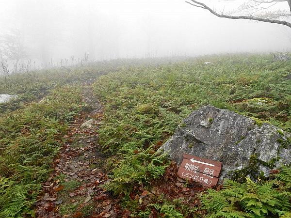 紅葉はおあずけ霧と暴風の明神岳  SOTA#JA/ME-002_f0073587_23315205.jpg