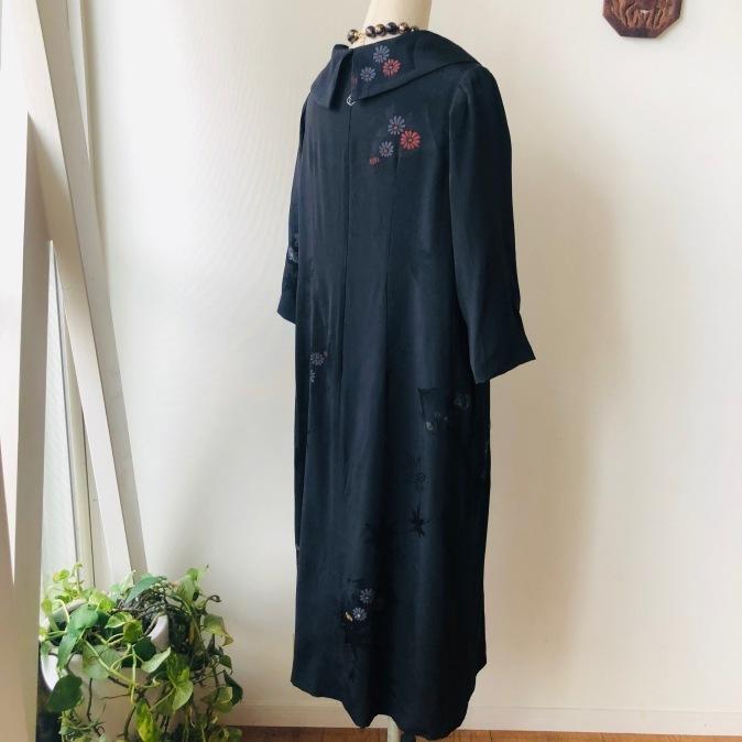 着物リメイク・羽織からロールカラーのワンピ_d0127925_12440293.jpg