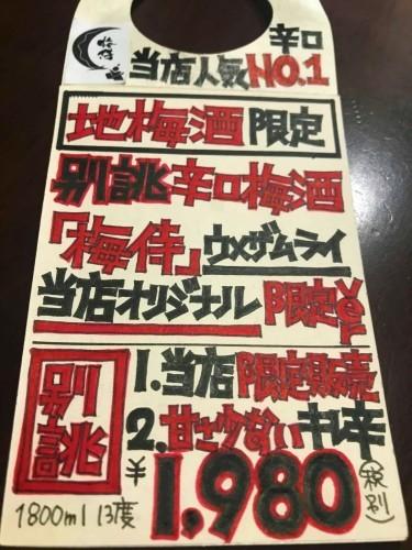 【地梅酒】別誂⭐からくち梅酒『梅侍-UMEZAMURAI-』本格米焼酎仕立て 当店限定✨Special ver_e0173738_09573276.jpg