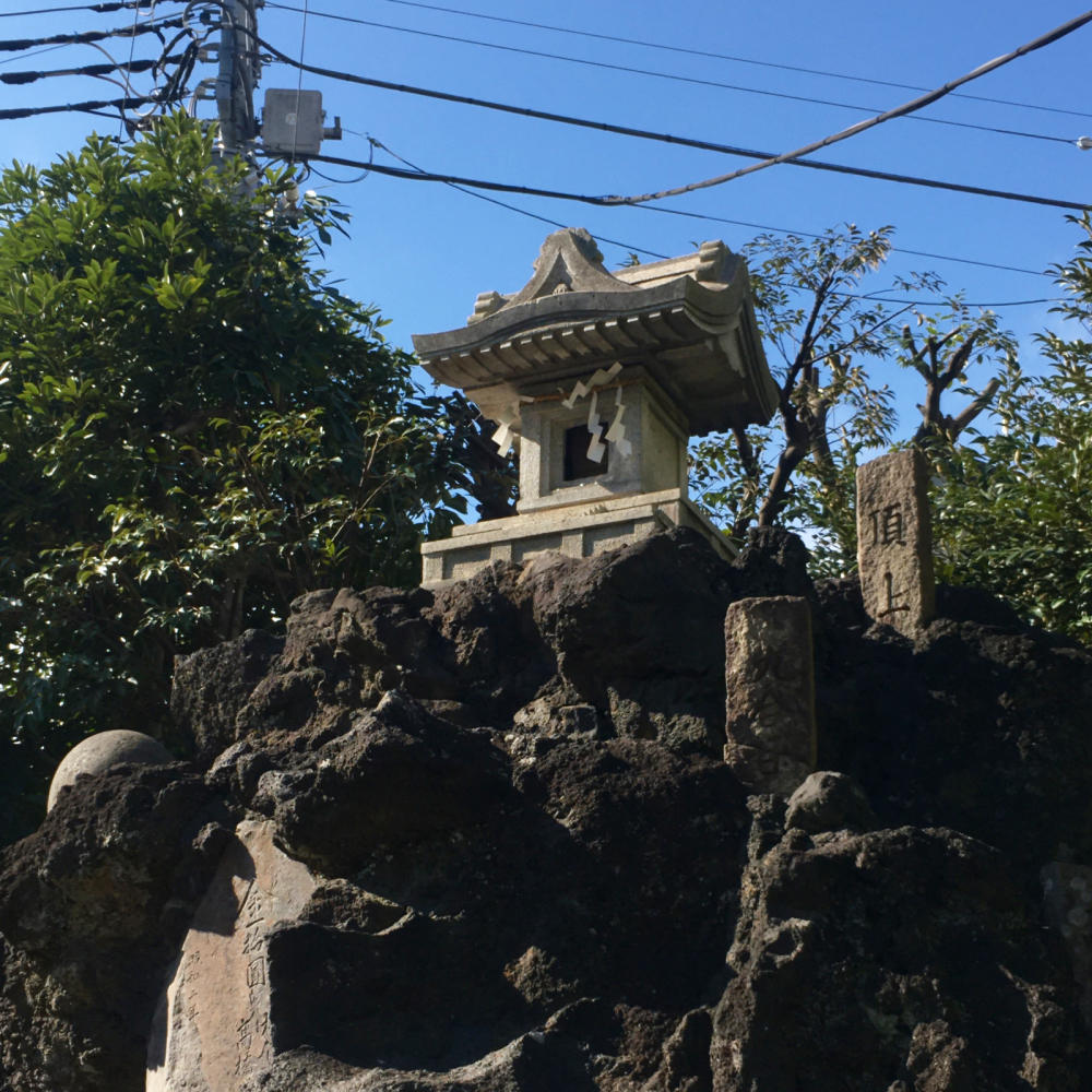 綾瀬稲荷神社の富士塚へ_c0060143_21121397.jpg