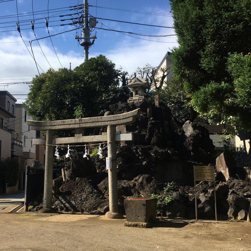 綾瀬稲荷神社の富士塚へ_c0060143_21121535.jpg