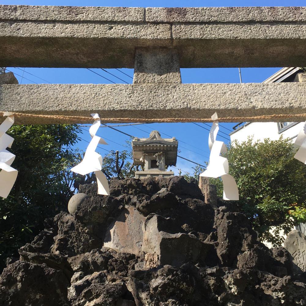 綾瀬稲荷神社の富士塚へ_c0060143_21121950.jpg
