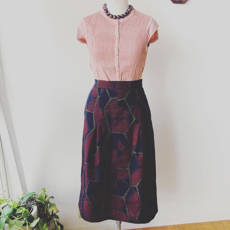 着物リメイク・紬のお着物からスカート_d0127925_16480248.jpg