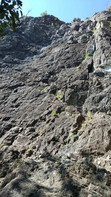 不動岩東稜紺碧の空でのクライミング_b0227552_22151048.jpg