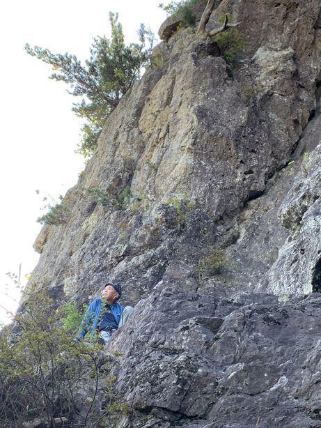 不動岩東稜紺碧の空でのクライミング_b0227552_22153782.jpg