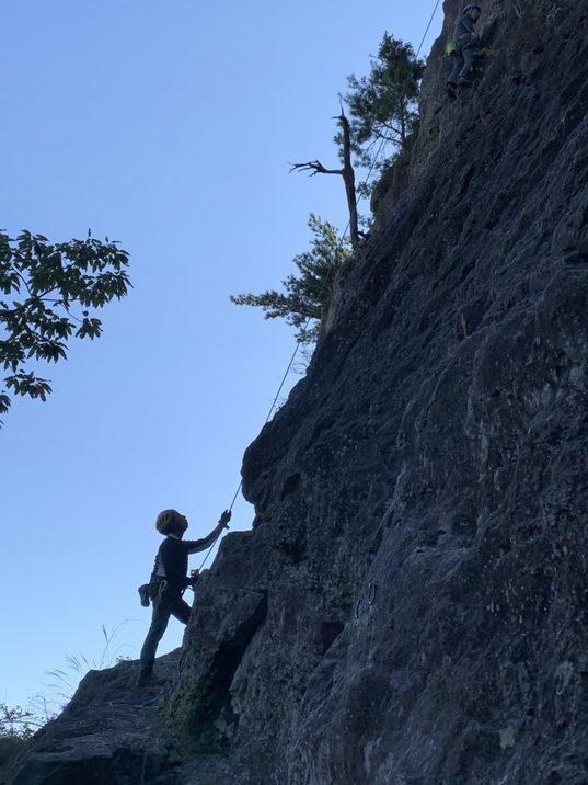 不動岩東稜紺碧の空でのクライミング_b0227552_22155163.jpg