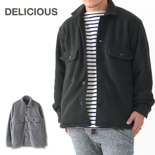 DELICIOUS [デリシャス] Fleece Shirt Jacket [DC0794] フリースシャツジャケット・フリースジャケット・MEN\'S _f0051306_11465904.jpg