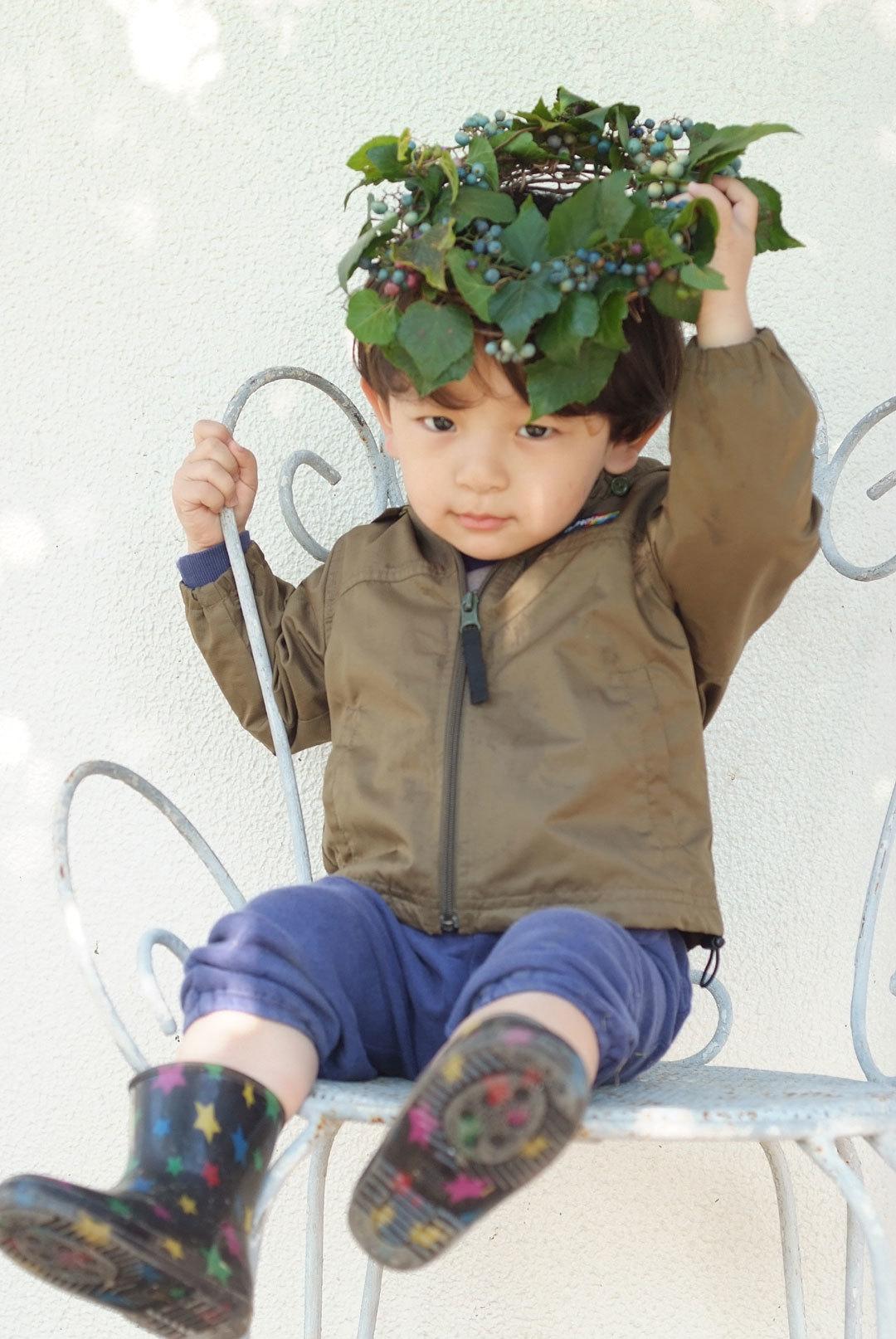 野ブドウのリースと小さな王子(10月27日)_b0075541_14320589.jpg