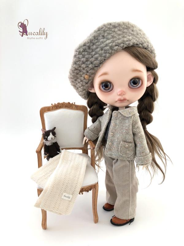 *lucalily * dolls clothes* Tweed short jacket set*_d0217189_11154818.jpeg