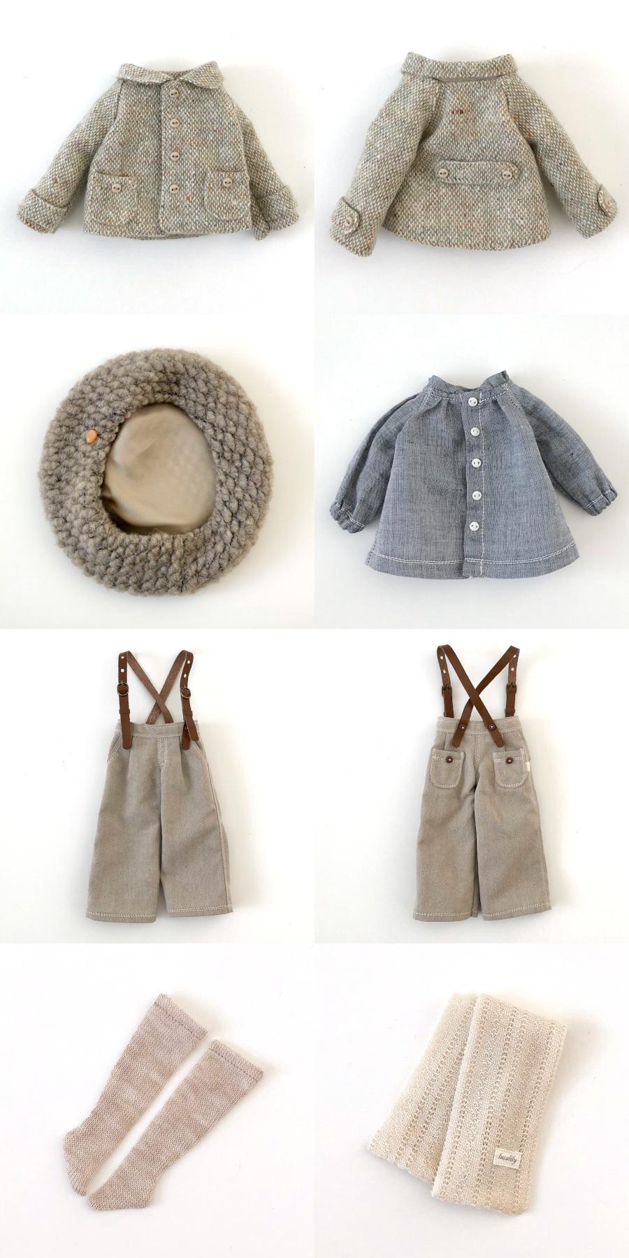 *lucalily * dolls clothes* Tweed short jacket set*_d0217189_11160912.jpg