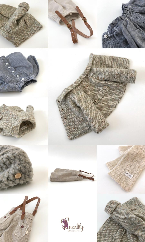 *lucalily * dolls clothes* Tweed short jacket set*_d0217189_11161223.jpeg