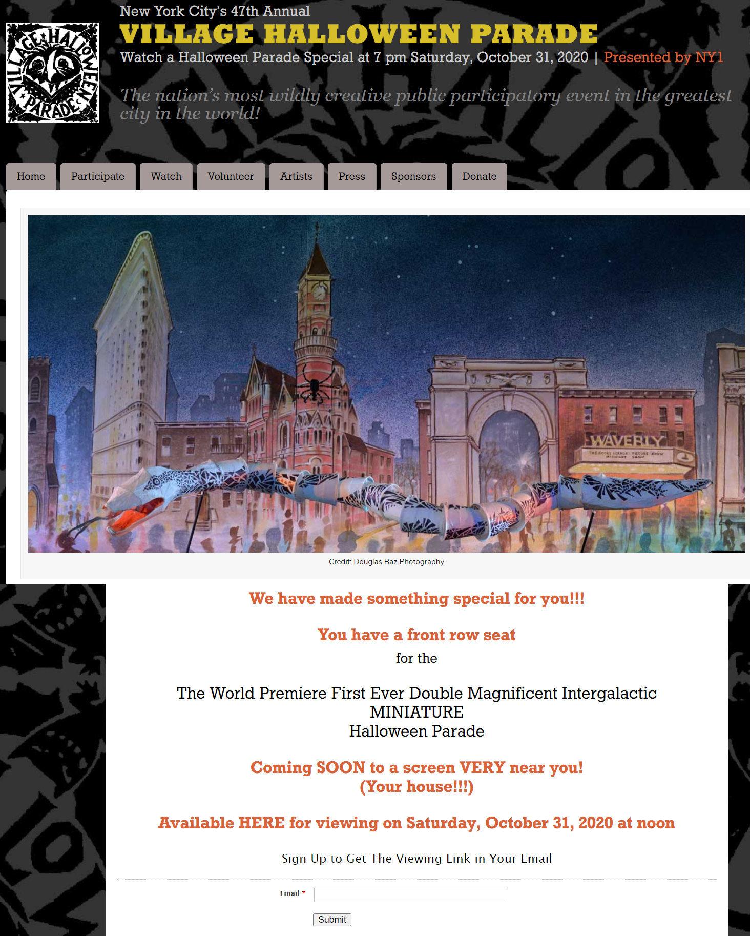 今年のニューヨークのハロウィン・パレードは、史上初ミニチュア・パレードを動画配信!_b0007805_01153934.jpg