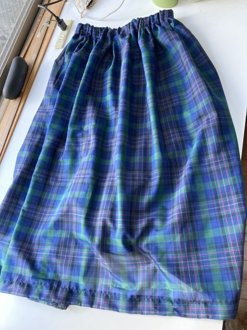 オーガンジーフィラメントチェックのスカート 5 完成_f0149924_12132790.jpg