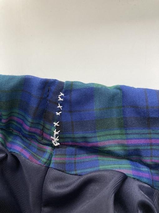 オーガンジーフィラメントチェックのスカート 5 完成_f0149924_12143528.jpg