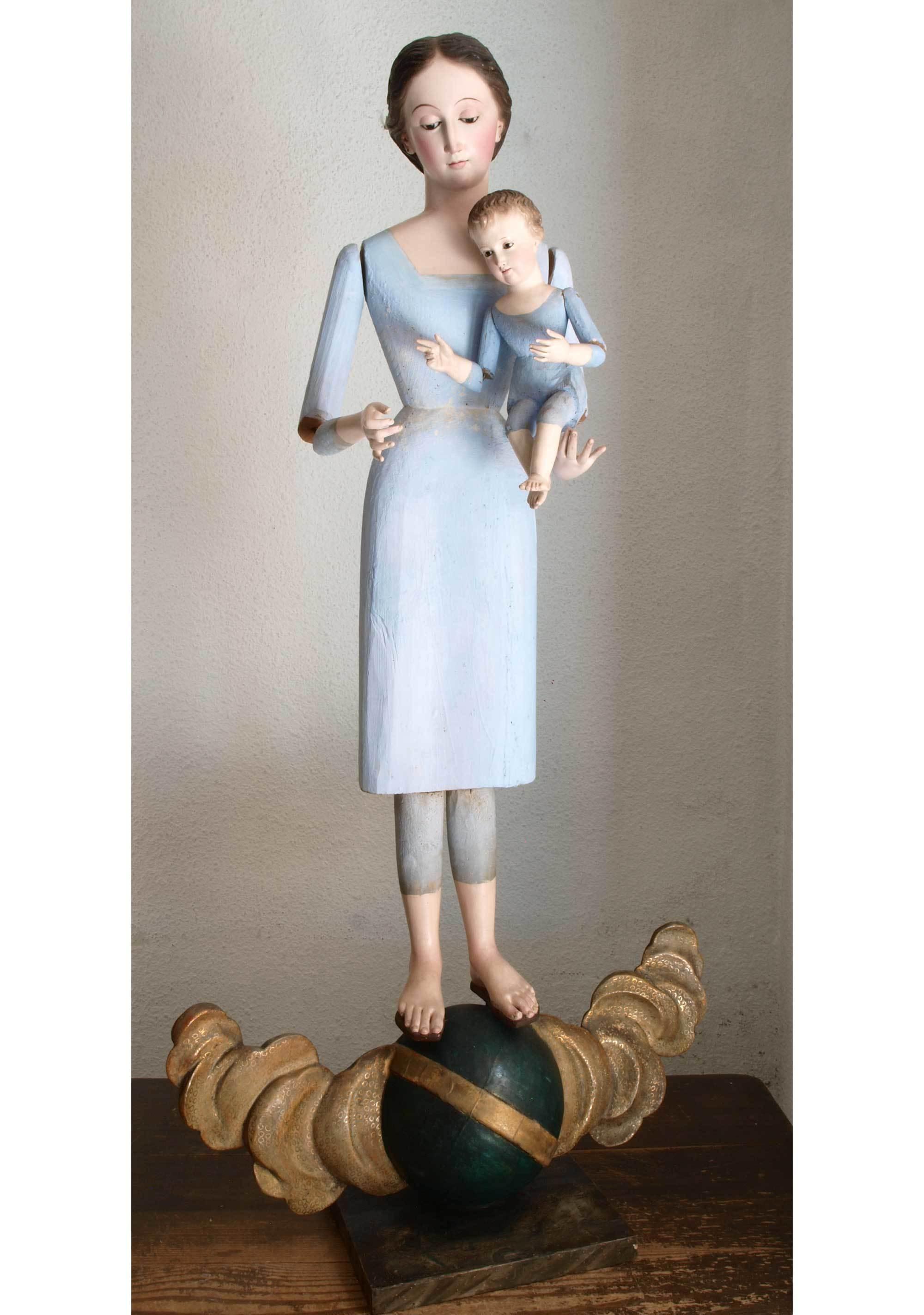 聖母子像 100cm ケージドール /H197_e0324838_03235456.jpg