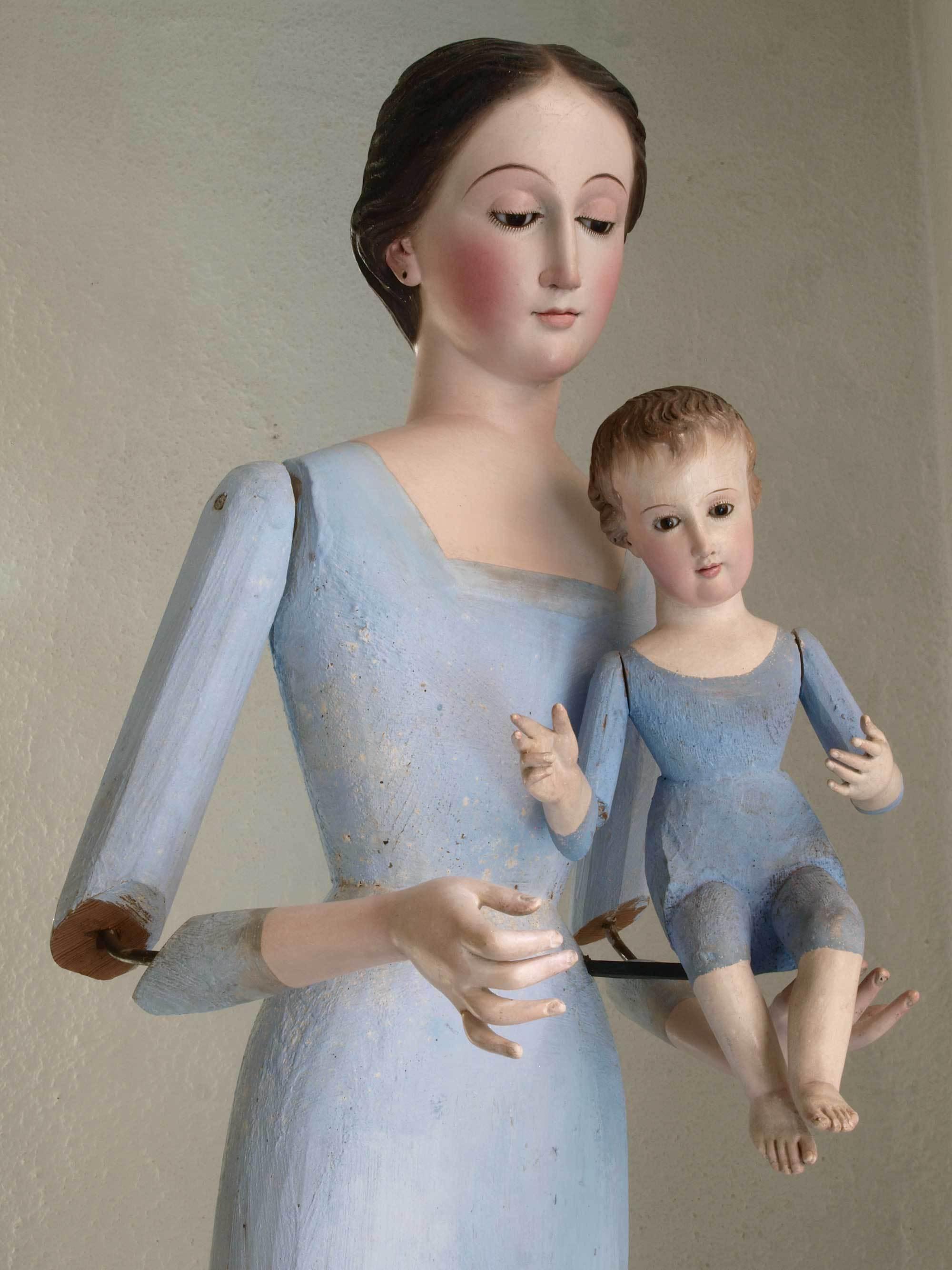 聖母子像 100cm ケージドール /H197_e0324838_03235545.jpg