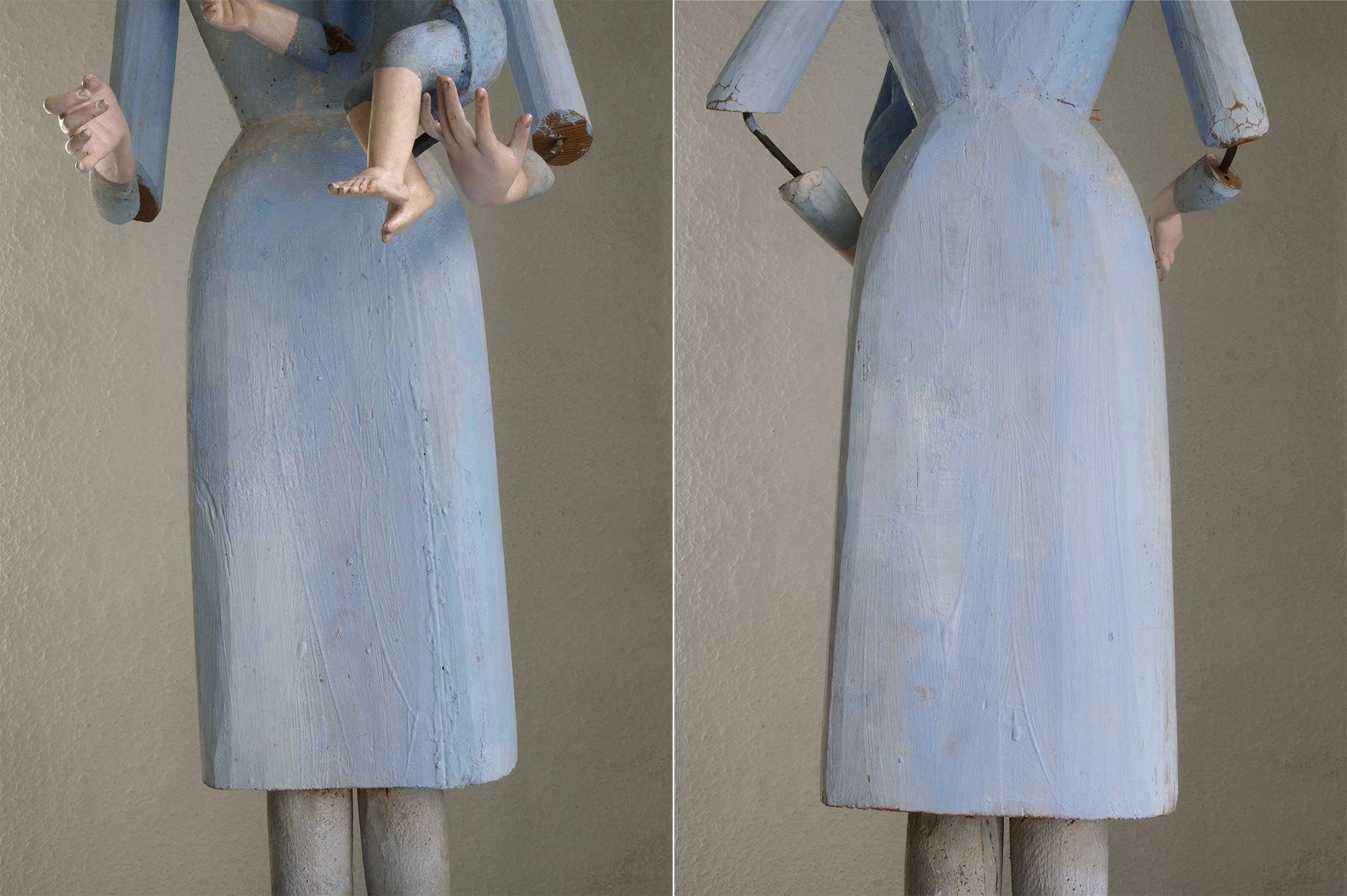 聖母子像 100cm ケージドール /H197_e0324838_03235547.jpg