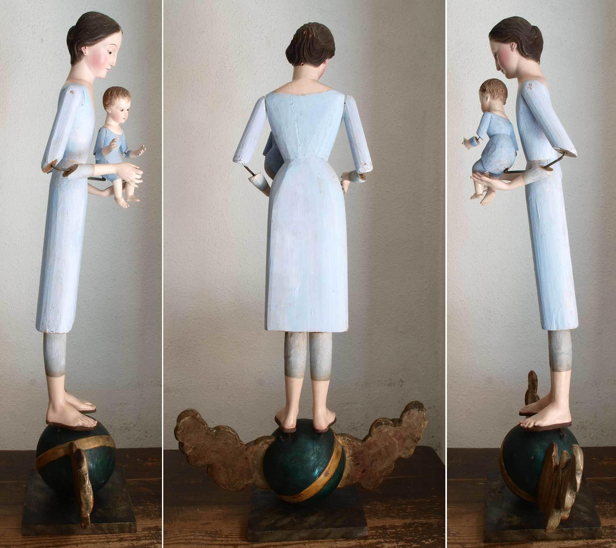 聖母子像 100cm ケージドール /H197_e0324838_03235598.jpg