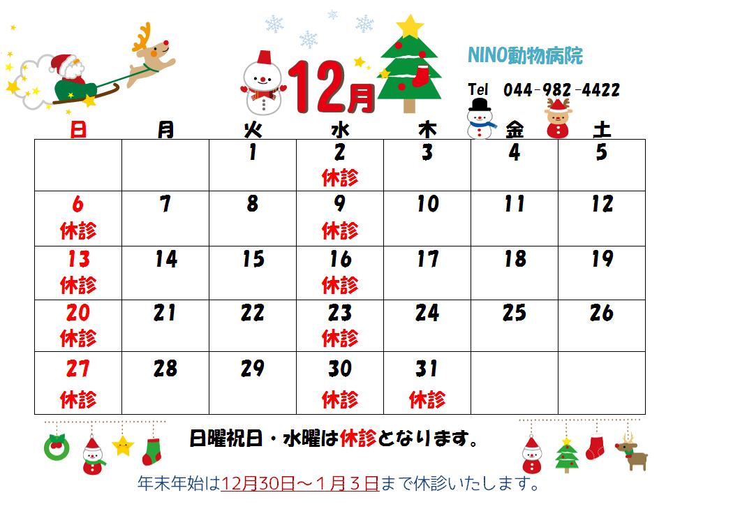 12月の診療日のお知らせ☆_e0288670_14512701.png