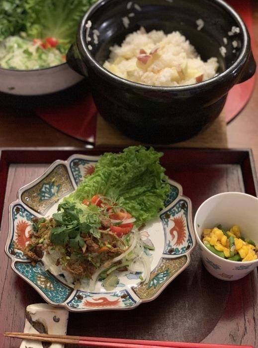 鯖の竜田揚げ など 夕食写真_e0178312_03043729.jpeg