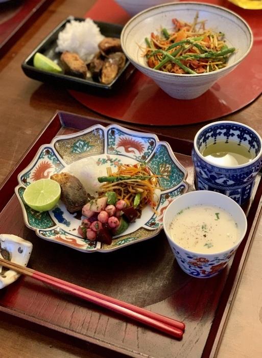 鯖の竜田揚げ など 夕食写真_e0178312_03044744.jpeg