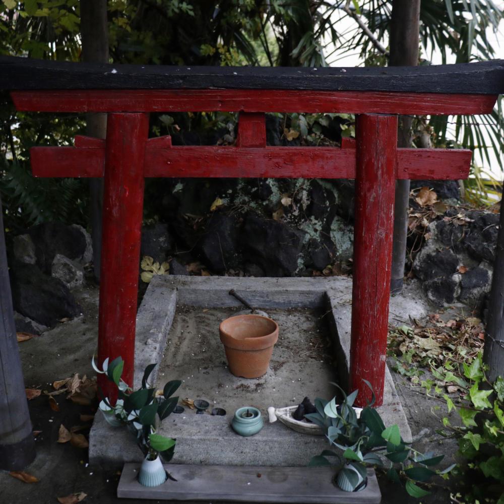 駐車場の敷地内にある富士塚、尾久浅間神社_c0060143_19592643.jpg