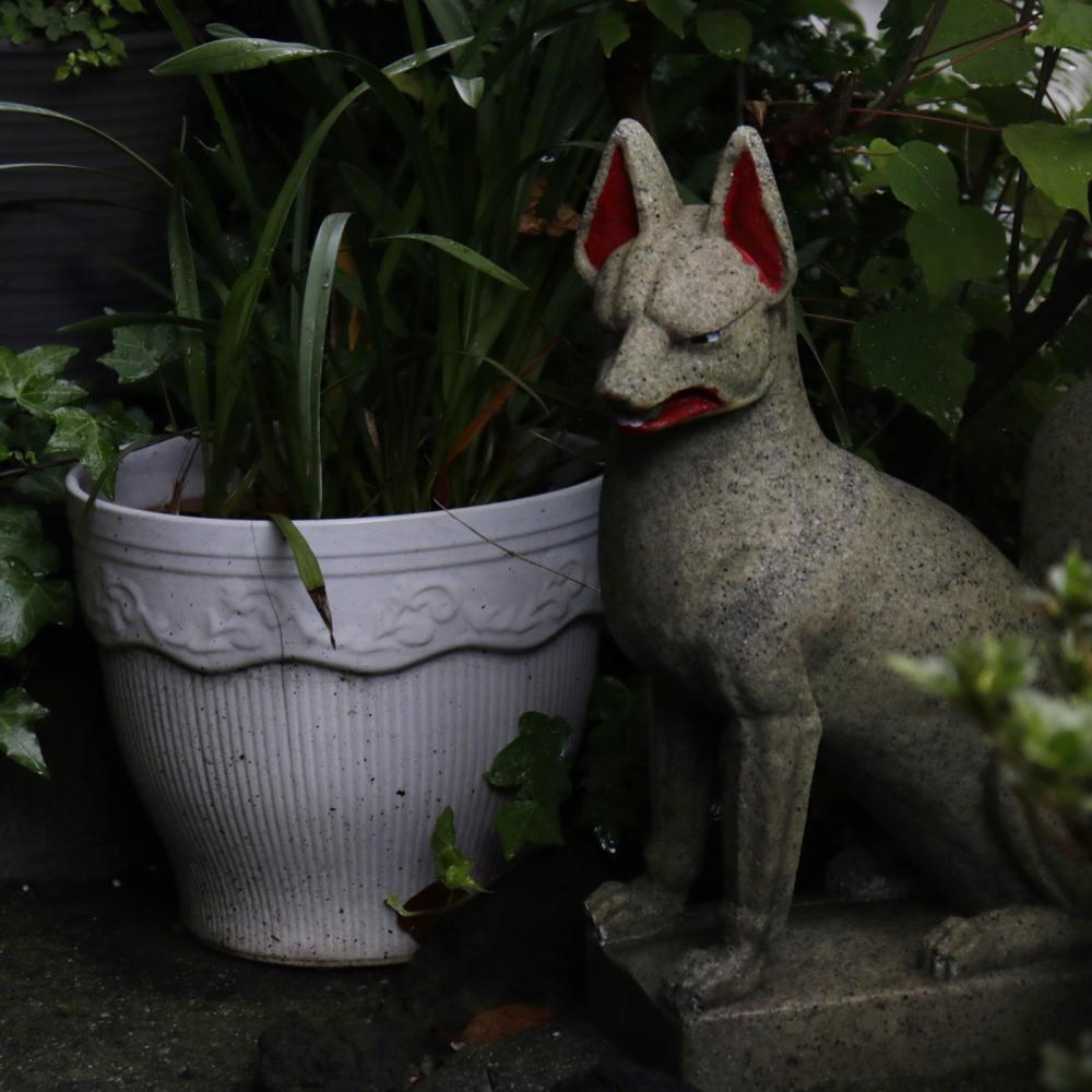 駐車場の敷地内にある富士塚、尾久浅間神社_c0060143_19595378.jpg