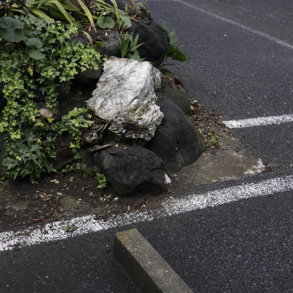 駐車場の敷地内にある富士塚、尾久浅間神社_c0060143_19595445.jpg