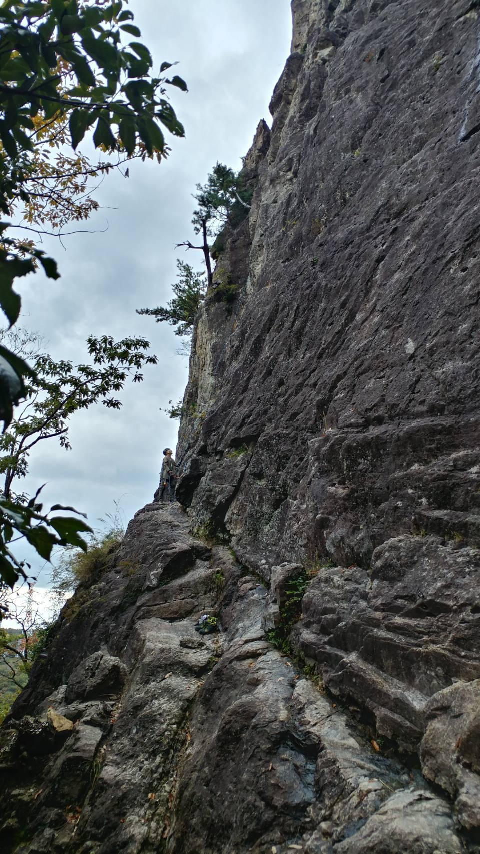 不動岩クライミング 東壁と東稜_b0227552_21360080.jpg