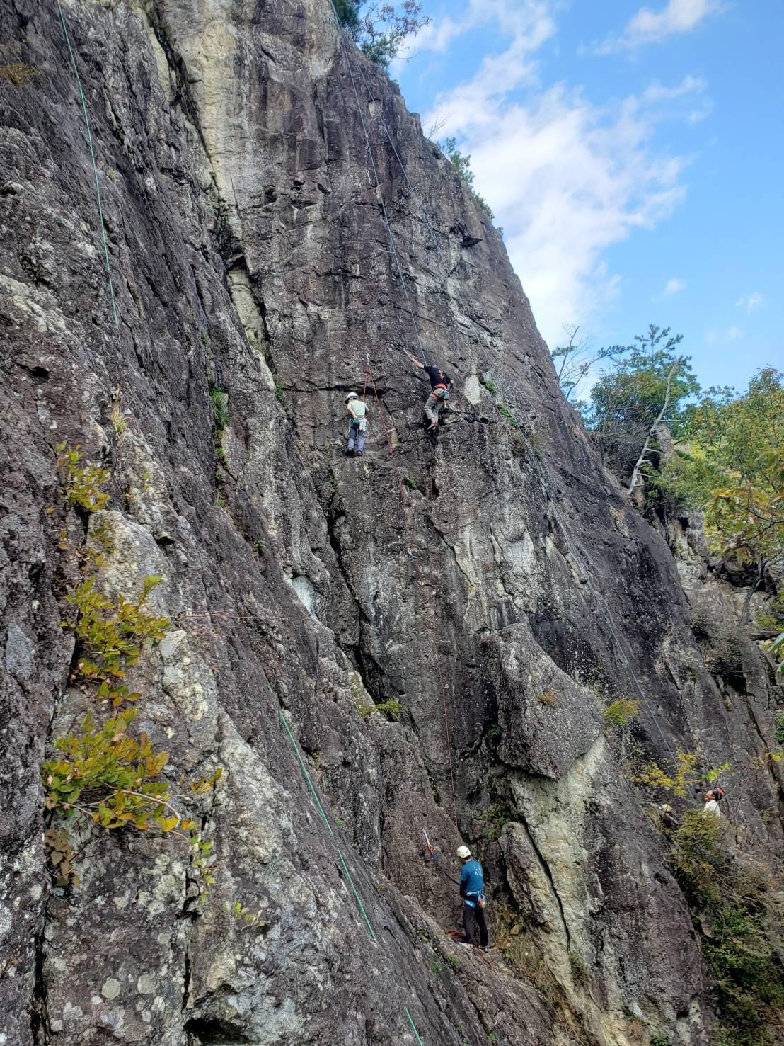 不動岩クライミング 東壁と東稜_b0227552_21482920.jpg